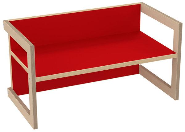 Pihami Kindersitzbank Stuhl Tisch Hannes In 3 Sitzhöhen Farbe Rot