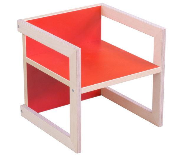 Pihami Kinderstuhl Stuhl Tisch Michel In 3 Sitzhöhen Farbe Rot